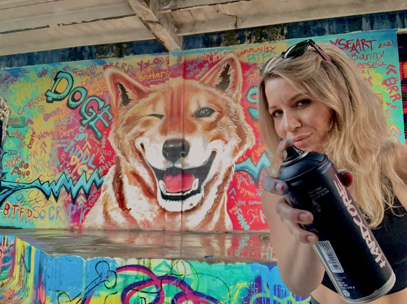 StaySeaArt and the mural and delighted the $SHIB community